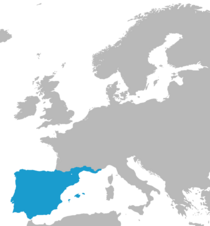 Map of lusitania inside of europe