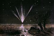 Comet Falling Over Australia
