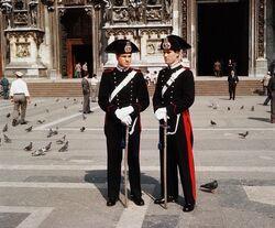 Carabinieri parade guards