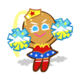 Cheerleader Cookie Halloween