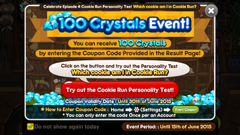 Coupon event cookie run