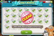 Daily Bonus finish