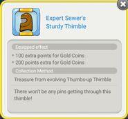 Expert Sewer's Sturdy Thimble