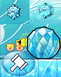 Obstacles in Tower of Frozen Waves