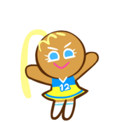 Cheerleader Cookie without Pom Poms
