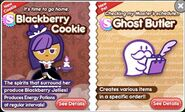 Blackberry Cookie and Ghost Butler