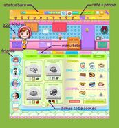 Cooking mama interface