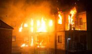 Victoria Court on fire