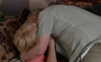Michael and Eileen making out