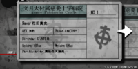 Corpse Party 2: Dead Patient/Medical Examination Cards