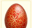 Red Dahlia Egg