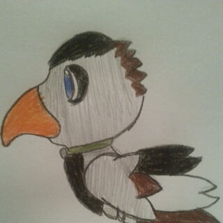 Alley as a Chocobo drawn by <a rel=