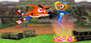 Crash Bandicoot Victory Screen
