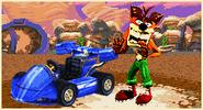 Fake crash cutscene