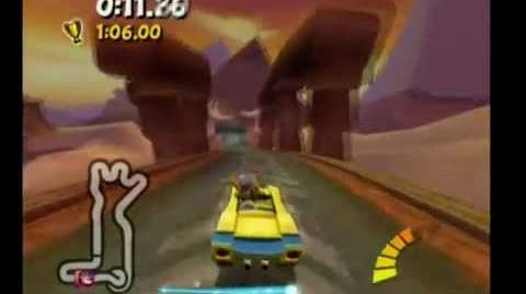 Crash Tag Team Racing 100% Walkthrough - 34 - Pyramid Pass Fast Lap