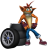 Crash Tag Team Racing Crash Bandicoot with Tires