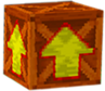 Crash Bandicoot 2 Cortex Strikes Back Wooden Arrow Crate