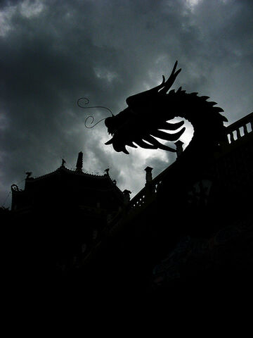 File:Same dragon at the Taoist Temple in silhouette.jpg