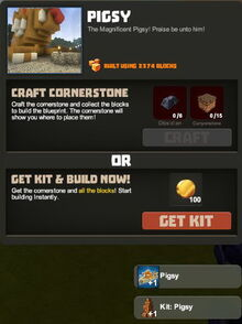 Creativerse Blueprint Kit with cornerstone August 2016