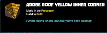 Creativerse R41,5 tooltips corners inner yellow adobe for roofs 591