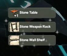 Creativerse unlock R22 Stone Table Weapon Rack Wall Shelf300