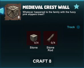 Creativerse R41 crafting recipes colossal castle medieval crest wall01