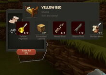 Creativerse Yellow Bed Wood Chest7744