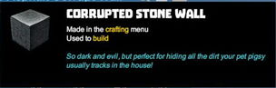Creativerse tooltips R40 074 bungalow asphalt corrupt blocks crafted