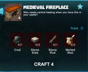 Creativerse R41 colossal castle medieval fireplace crafting recipe01