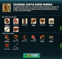 Creativerse Colossal Castle super bundle R41 03
