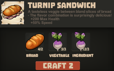 Sandwich turnip cook