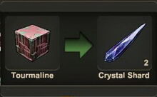 Creativerse Crystal shard processed from Tourmaline