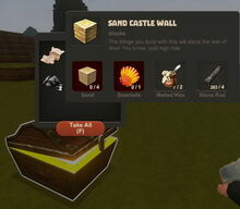 Creativerse Sandcastle Wall Wood Chest1001