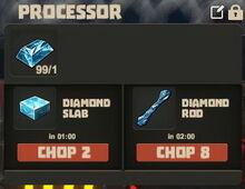 Creativerse Diamond ore to slab and rod01