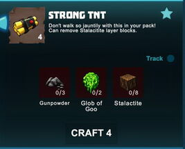 Creativerse R41 crafting recipes Strong TNT001