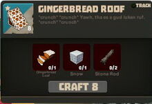 Creativerse Gingerbread Roof recipe1533
