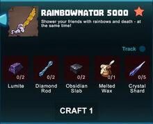Creativerse R41 crafting recipes rainbownator swords