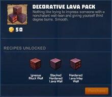 Creativerse 01 Decorative Lava Pack1003