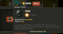 Creativerse R33 buy claim Coal current inventory001