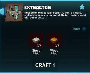 Creativerse R41 crafting recipes Extractor001