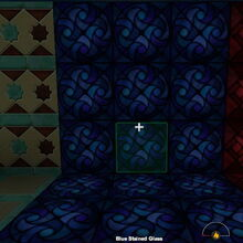 Creativerse Shop Blue Stained Glass night2984