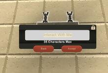 Creativerse R33,5 Hanging Stone Sign interact001