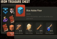 Creativerse Blue Adobe Floor Iron Treasure Chest