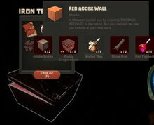 Creativerse Red Adobe Wall Iron Chest