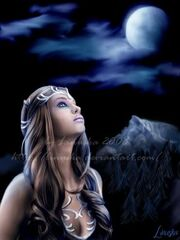 Chors goddess of the moon by Linu