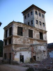 Abandoned building the little hobo boy