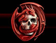File:Dragon wrapped around a skull.jpg