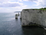 Old Harry rocks cliff