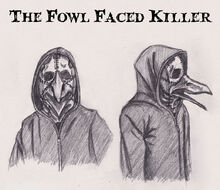 Fowl face police sketches blood crow font by that maskdt chick-d8a8rw6