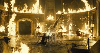 Fire interior